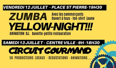Avant le Tour de France, Zumba et Yellow night dans le centre-ville